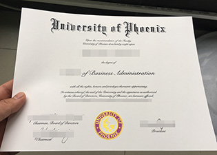 University of Phoenix fake degree, w