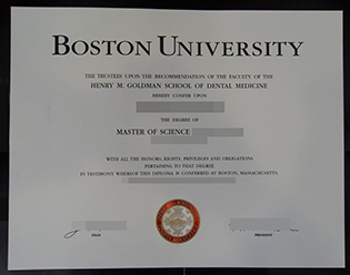 Boston University fake certificate