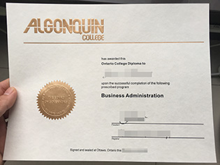 fake degree from Algonquin College,