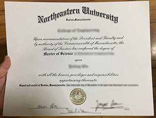Northeastern University degree sampl
