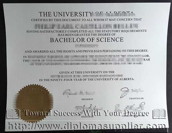 University of Alberta certificate, University of Alberta degree