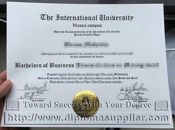 The International University degree, The International University diploma
