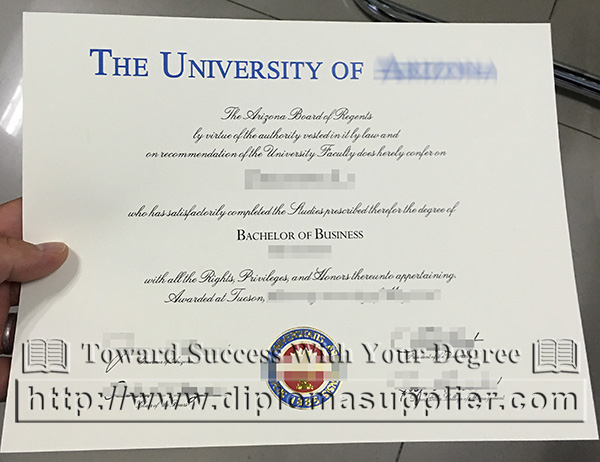 University of Arizona degree, University of Arizona certificate, University of Arizona Eller College of Management diploma