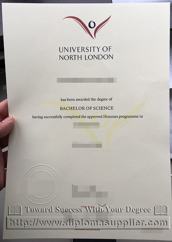 University of North London certificate, University of North London  degree