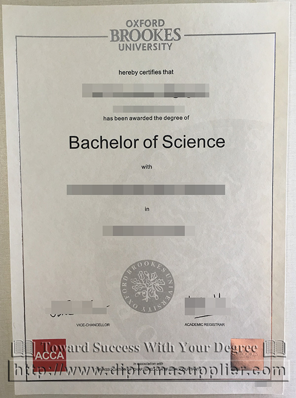 Oxford Brookes University diploma