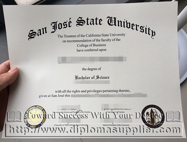 Fake Sjsu Degree San Jose State University Degree Sample