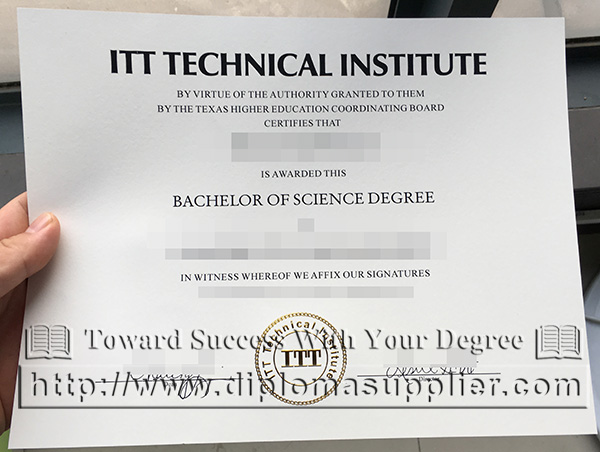ITT Technical Institute diploma