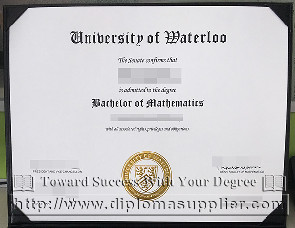 University of Waterloo degree certificate