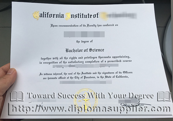 Caltech degree, California Institute of Technology degree, CIT certificate, CIT degree