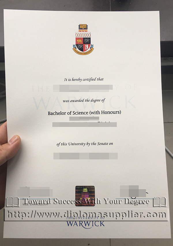 University of Warwick diploma certificate