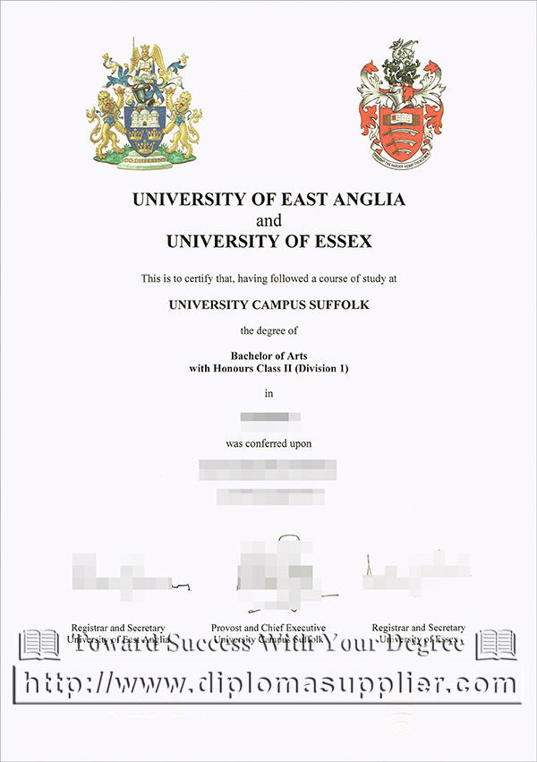 University of East Anglia degree certificate, University of Essex degree certificate