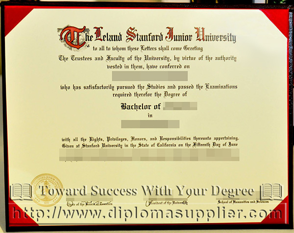 Stanford University degree, Stanford University diploma, Stanford University certificate