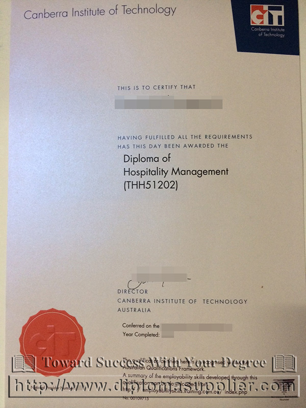 Canberra Institute of Technology (CIT) degree, CIT fake diploma