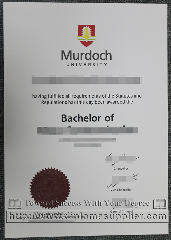 Murdoch University degree certificate, Murdoch University diploma