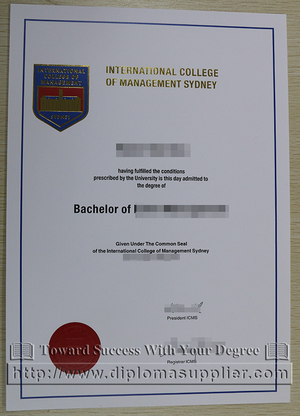 ICMC diploma, International College of Management, Sydney degree