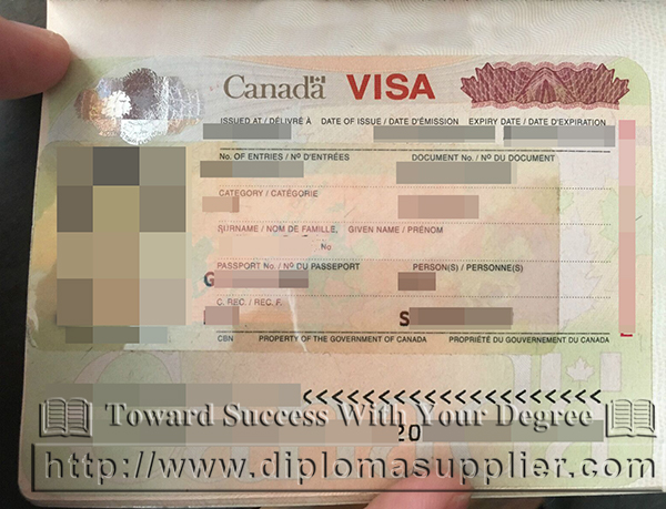 Canadian passport/visa