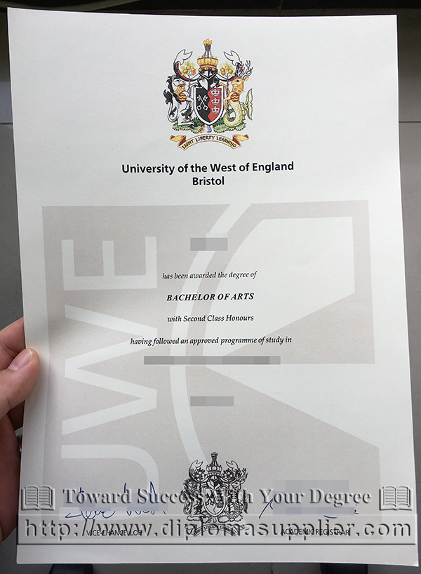 University of the West of England degree, UWE diploma