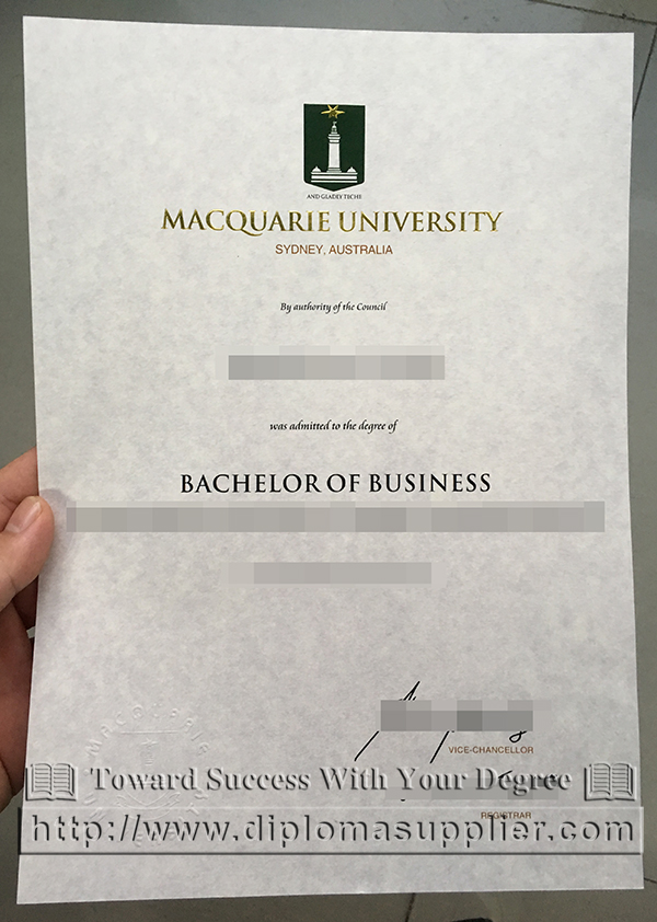 Macquarie University degree, MQU diploma