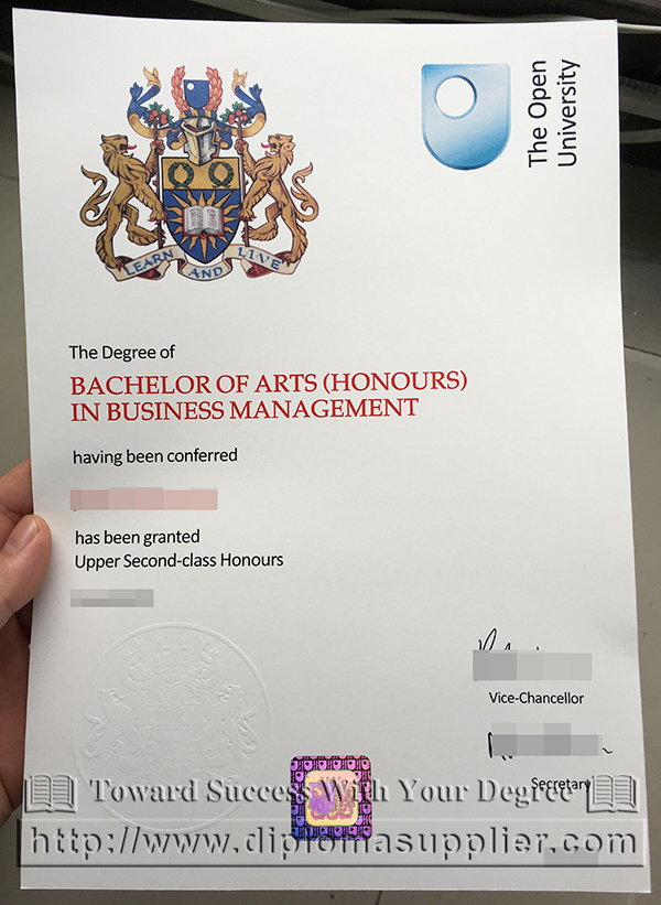The Open University degree of Bachelor of Arts in Business Management