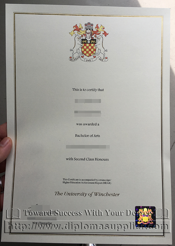 University of Winchester degree, University of Winchester certificate