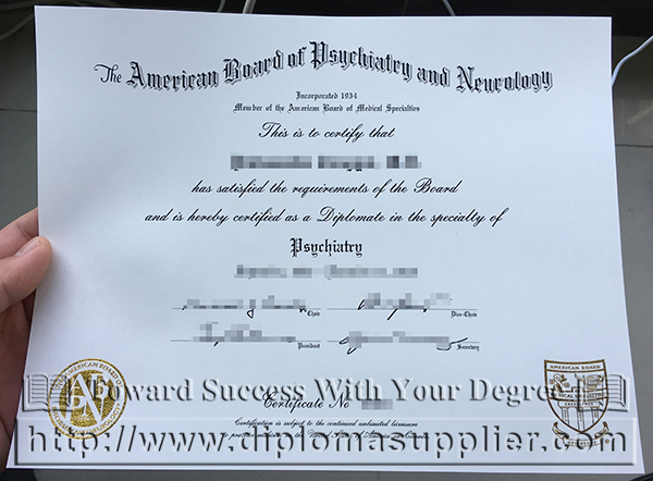 ABPN certificate, ABPN diploma, doctor diploma, doctor licence, American Medical Association certificate