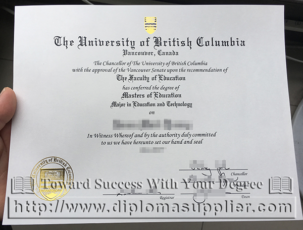 UBC degree, UBC diploma, University of British Columbia degree