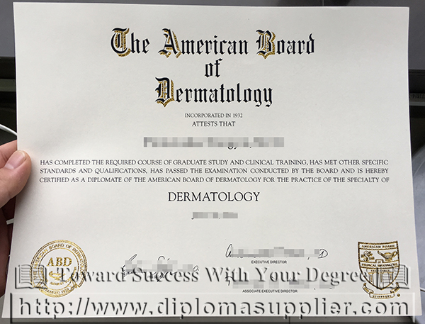 American Board of Dermatology certification
