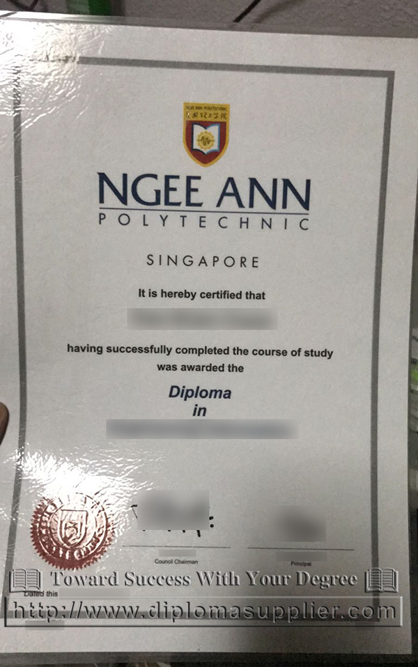 Ngee Ann Poly diploma, Ngee Ann Polytechnic certificate, Ngee Ann Polytechnic degree