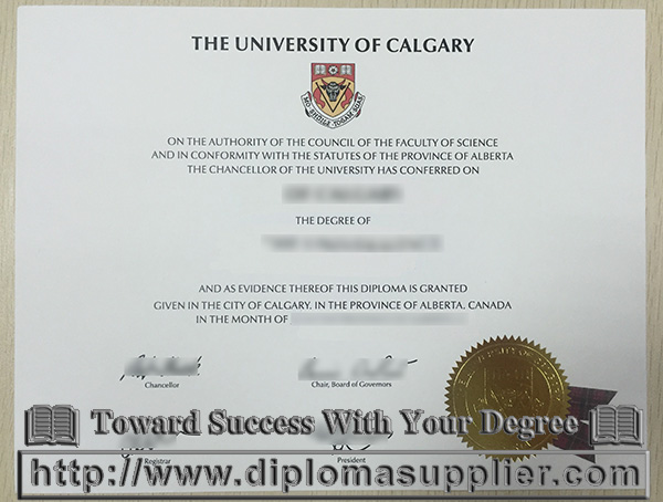 University of Calgary degree, University of Calgary diploma certificate