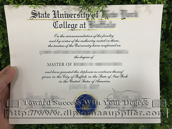SUNY College at Buffalo degree certificate, SUNY diploma, College at Buffalo diploma