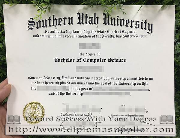 Southern Utah University degree, Southern Utah University bachelor's degree, Southern Utah University diploma