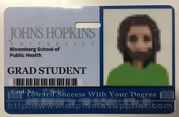 The Johns Hopkins University student card, JHU student card, Bloomberg School of Public Health badge card, JHU badge card