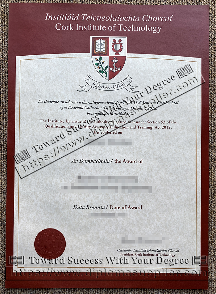 CIT fake degree, Cork Institute of Technology diploma