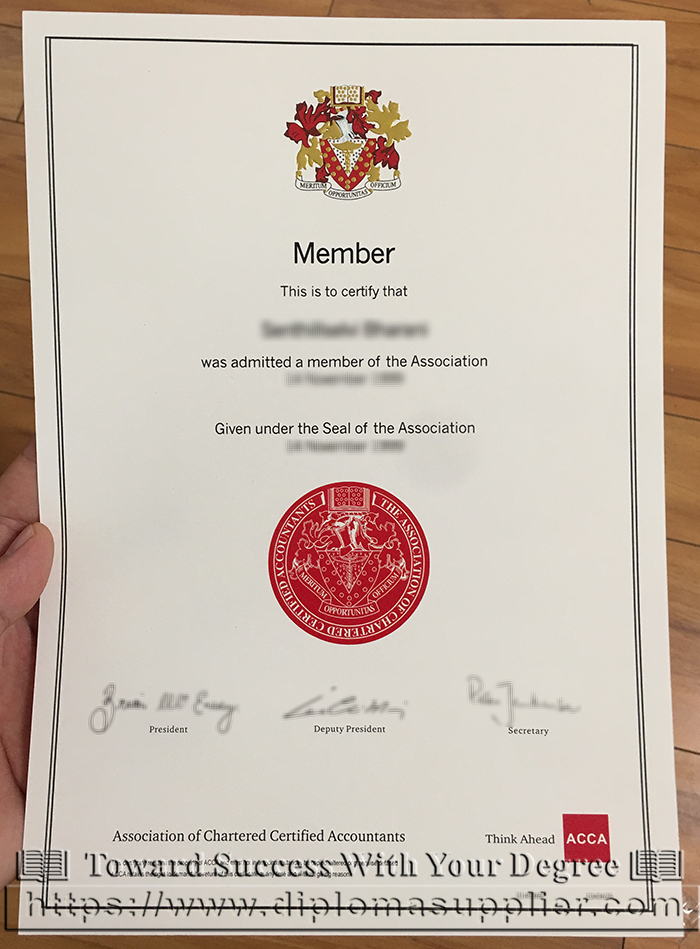 get acca fake certificate to be a member of it