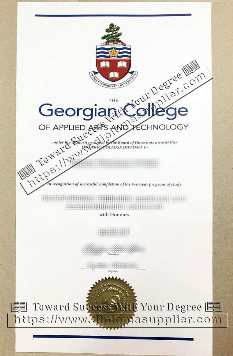 Georgian College diploma, Georgian College degree, Georgian College graduate diploma