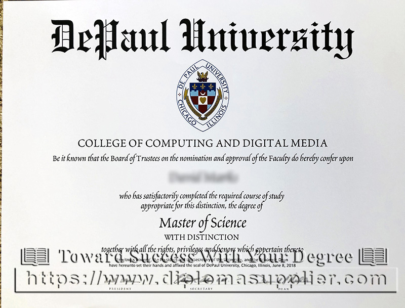 DePaul University degree, DePaul University diploma, DPU degree