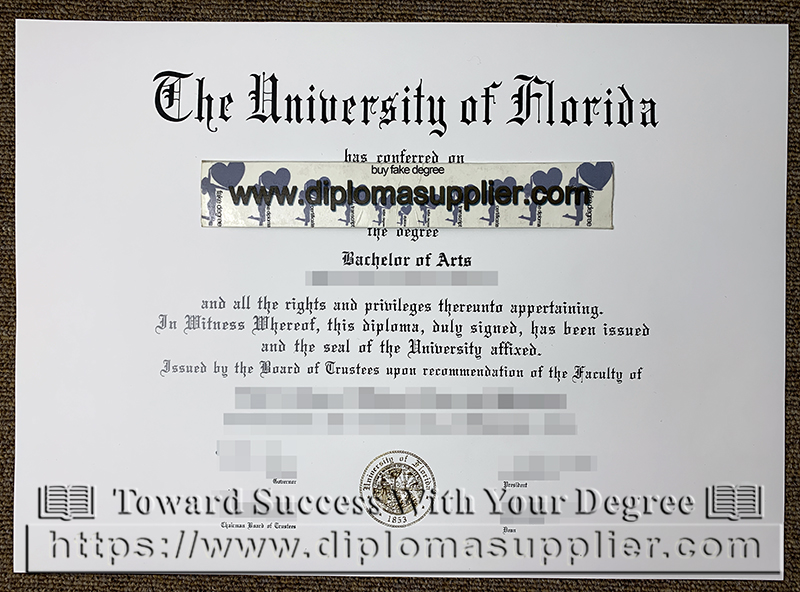 University of Florida diploma, University of Florida bachelor of science degree
