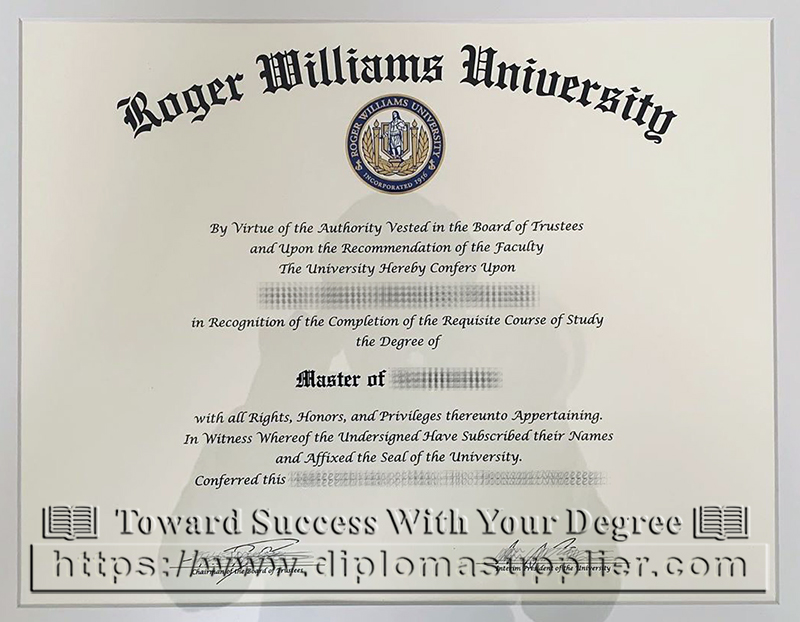 Roger Williams University Fake Diploma, RWU Degree Certificate